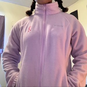 pink breast cancer awareness columbia fleece